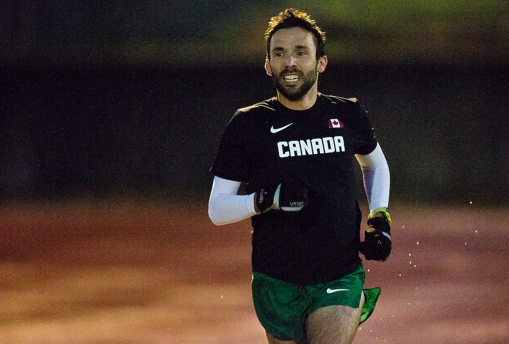Guillaume Ouellet trains at the University of Victoria on December 3rd, 2015 in Victoria, British Columbia Canada.