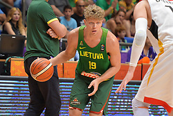 September 6, 2017 - Telaviv, Israel, Israel - Mindaugas Kuzminskas of Lithuania during Erurobasket Group B a game between Germany vs Lithuania ,  Lithuania won 89 - 72 ,Telaviv 06//09/2017 (Credit Image: © Michele Longo/Pacific Press via ZUMA Wire)