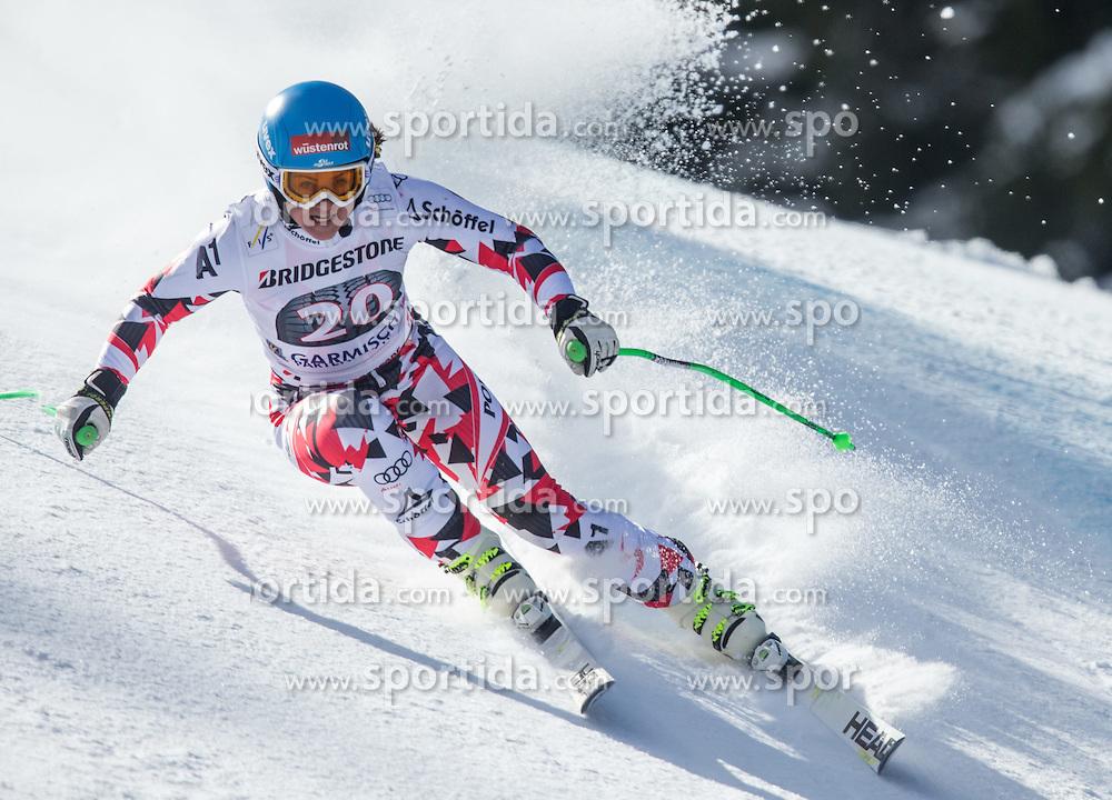 06.03.2015, Kandahar, Garmisch Partenkirchen, GER, FIS Weltcup Ski Alpin, Abfahrt, Damen, 1. Trainingslauf, im Bild Elisabeth Goergl (AUT) // Elisabeth Goergl of Austria during 1st training run for the ladie's Downhill of the FIS Ski Alpine World Cup at the Kandahar course, Garmisch Partenkirchen, Germany on 2015/03/06. EXPA Pictures © 2015, PhotoCredit: EXPA/ Johann Groder