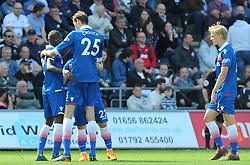 Papa Alioune Ndiaye of Stoke City celebrates his goal after making it 1-1 - Mandatory by-line: Nizaam Jones/JMP- 13/05/2018 - FOOTBALL - Liberty Stadium - Swansea, Wales - Swansea City v Stoke City - Premier League