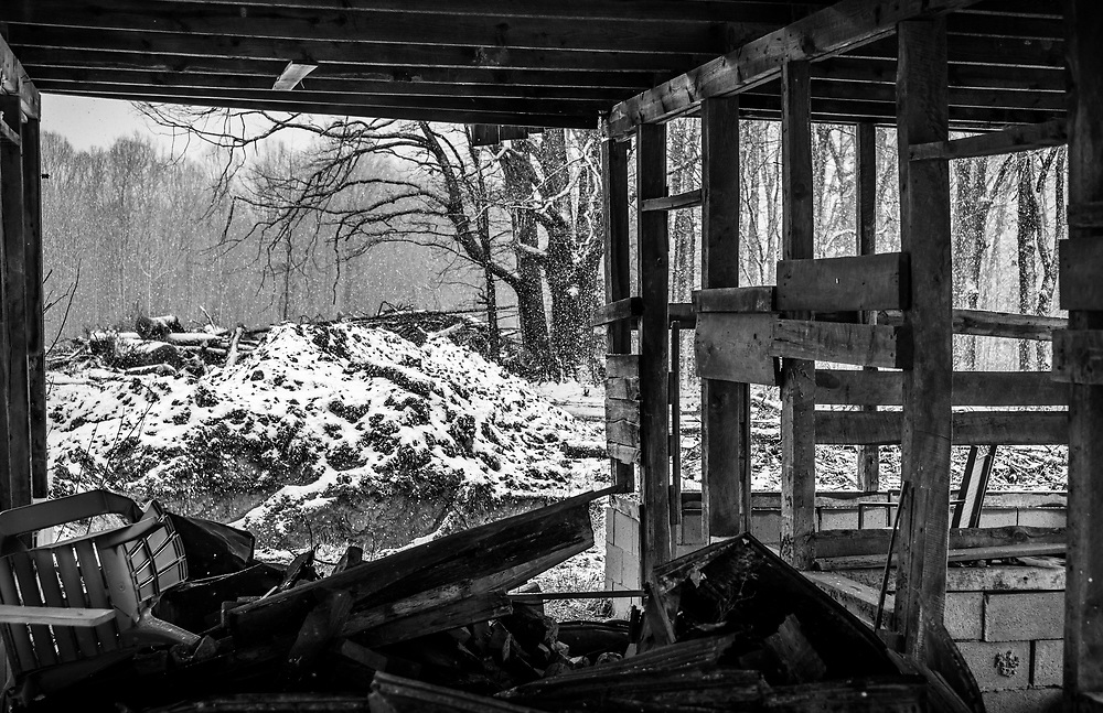 The last days of Winter 2018 and this old barn in High Point, North Carolina.  The former farmland is being developed for residential housing.