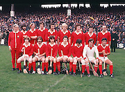 The Cork team before the The Cork captain Martin O'Doherty patted on the head by a young supporter after receiving the Liam MacCarthy Cup after the All Ireland Senior Hurling Final, Cork v Wexford in Croke Park on the 4th September 1977. Cork 1-17 Wexford 3-8.<br />