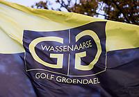WASSENAAR  (NETH.) - Vlag met logo Golfclub Groendael in Wassenaar. COPYRIGHT KOEN SUYK
