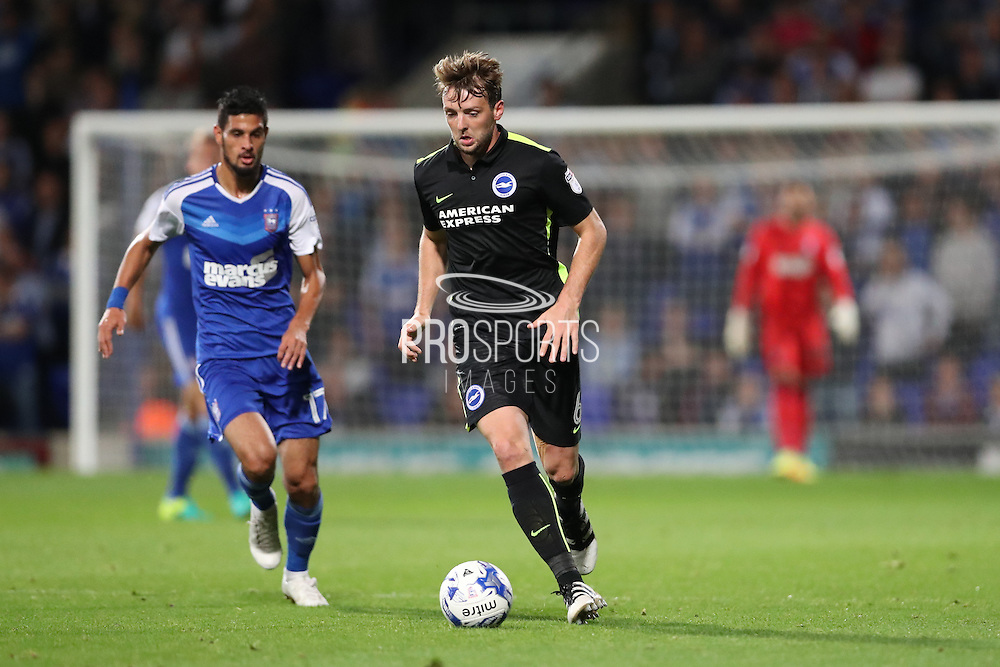 Brighton & Hove Albion central midfielder Dale Stephens (6) during the EFL Sky Bet Championship match between Ipswich Town and Brighton and Hove Albion at Portman Road, Ipswich, England on 27 September 2016.