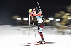 February 12, 2018 - Pyeongchang, Gangwon, South Korea - Marie Dorin Habert ofFrance  competing at Women's 10km Pursuit, Biathlon, at olympics at Alpensia biathlon stadium, Pyeongchang, South Korea. on February 12, 2018. (Credit Image: © Ulrik Pedersen/NurPhoto via ZUMA Press)