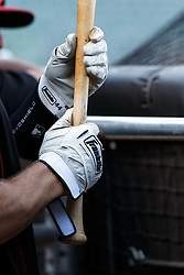 SAN FRANCISCO, CA - APRIL 18: Detailed view of Franklin batting gloves worn by Paul Goldschmidt #44 of the Arizona Diamondbacks during batting practice before the game against the San Francisco Giants at AT&T Park on April 18, 2016 in San Francisco, California. The Arizona Diamondbacks defeated the San Francisco Giants 9-7 in 11 innings.  (Photo by Jason O. Watson/Getty Images) *** Local Caption *** Paul Goldschmidt