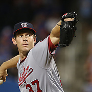 NEW YORK, NEW YORK - July 08: Pitcher Stephen Strasburg #37 of the Washington Nationals pitching during the Washington Nationals Vs New York Mets regular season MLB game at Citi Field on July 08, 2016 in New York City. (Photo by Tim Clayton/Corbis via Getty Images)