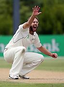 Daniel Vettori appeals.<br />New Zealand v West Indies, First Test Match, National Bank Test Series, University Oval, Dunedin, Sunday 14 December 2008. Photo: Andrew Cornaga/PHOTOSPORT