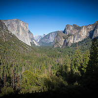 Tunnel View overlook inside Yosemite National Park on Sunday, September 22, 2019 in Yosemite, California. (Alex Menendez via AP)