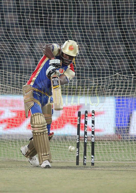 Chris Gayle of the Royal Challengers Bangalore during the training session of the Royal Challengers Bangalore held at the Feroz Shah Kotla Stadium in Delhi, India on the 25th April 2011..Photo by Shaun Roy/BCCI/SPORTZPICS