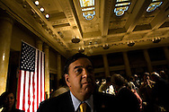 U.S. Democratic Presidential candidate and New Mexico Governor Bill Richardson delivers a policy speech during a campaign stop in Des Moines, Iowa October 18, 2007.