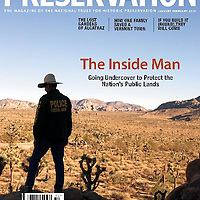 Cover from assignment for Preservation, the magazine for the National Trust for Historic Preservation. Story about protecting the nation's public lands.