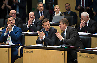 DEU, Deutschland, Germany, Berlin, 02.03.2018: Der neue saarländische Ministerpräsident Tobias Hans (CDU) bei seiner ersten Sitzung im Bundesrat.