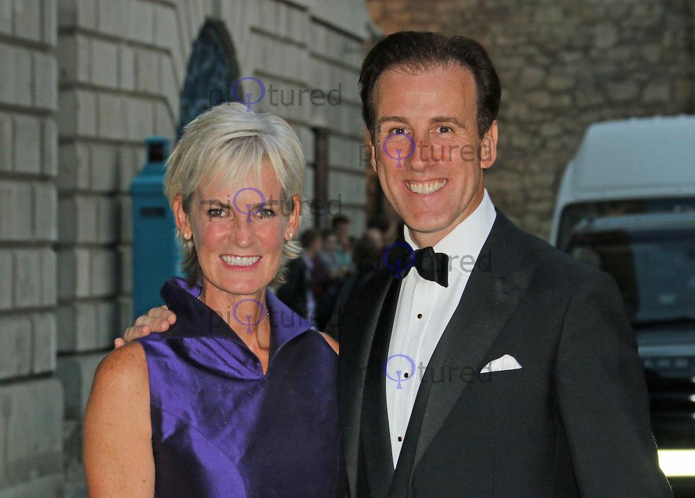 Judy Murray; Anton Du Beke, Dot Com Children's Foundation Strictly Ballroom - charity dinner, The Mansion House, London UK, 16 September 2014, Photo by Richard Goldschmidt