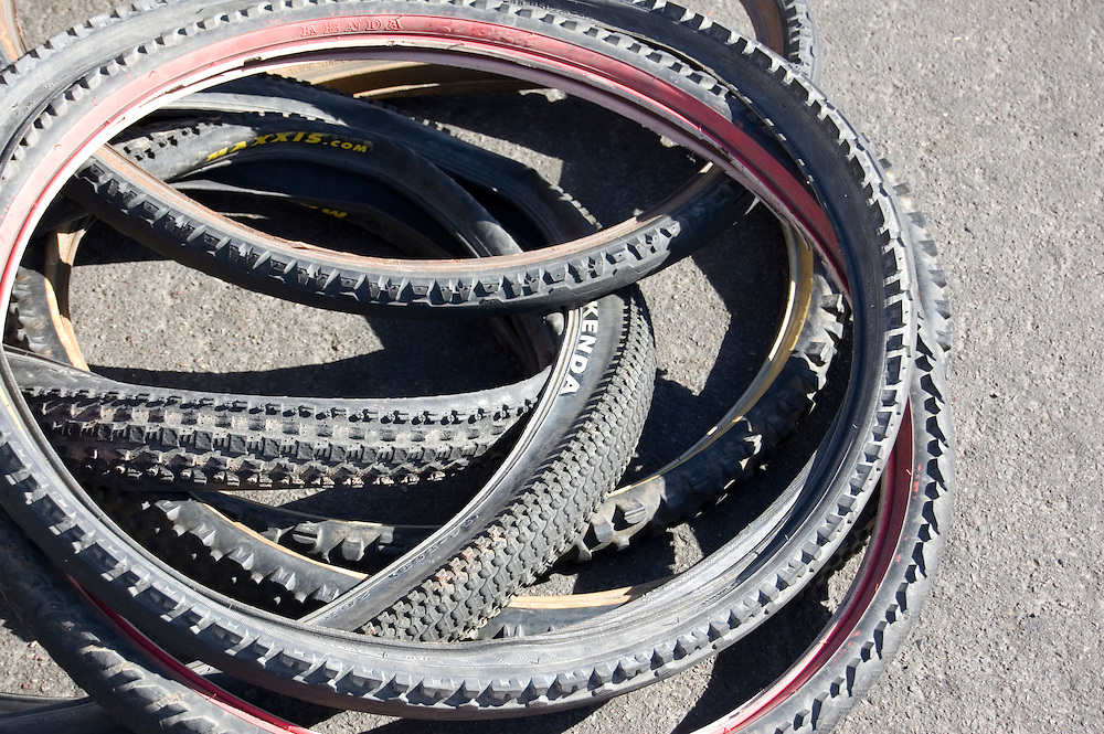 Used mountain bike tires. Bike-tography by Martha Retallick.