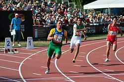 SOUZA Emicarlo, ALDOSAI Mazin, ZHAO Xu, BRA, KSA, CHN, 200m, T46, 2013 IPC Athletics World Championships, Lyon, France
