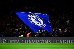 A Chelsea flag waves - Mandatory by-line: Ryan Hiscott/JMP - 10/12/2019 - FOOTBALL - Stamford Bridge - London, England - Chelsea v Lille - UEFA Champions League group stage