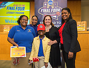Codwell Elementary School is recognized during the reveal of the 32 finalists in the Houston ISD NCAA Read to the Final Four, November 11, 2015.