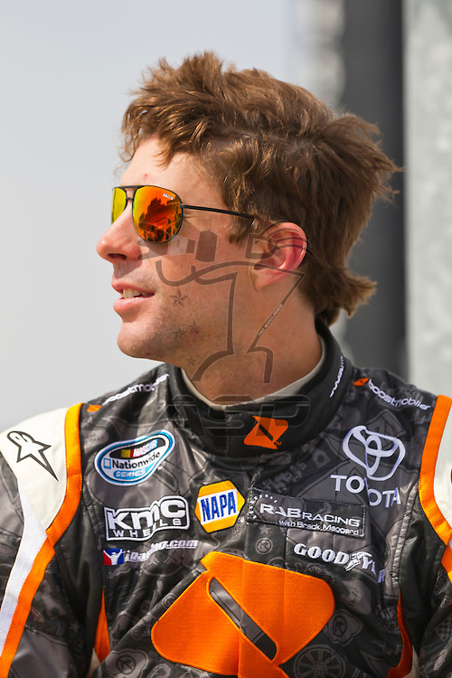 NEWTON, IA - MAY 19, 2012:  Travis Pastrana (99) prepares to qualify for the Pioneer Hi-Bred 250 at the Iowa Speedway in Newton, IA.