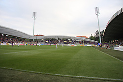 Stadium at last football match of PrvaLiga Telekom Slovenije between NK Maribor and NK Interblock, when Maribor became a Slovenian National Champion, on May 23, 2009, in Ljudski vrt, Maribor. (Photo by Marjan Kelner/Sportida)