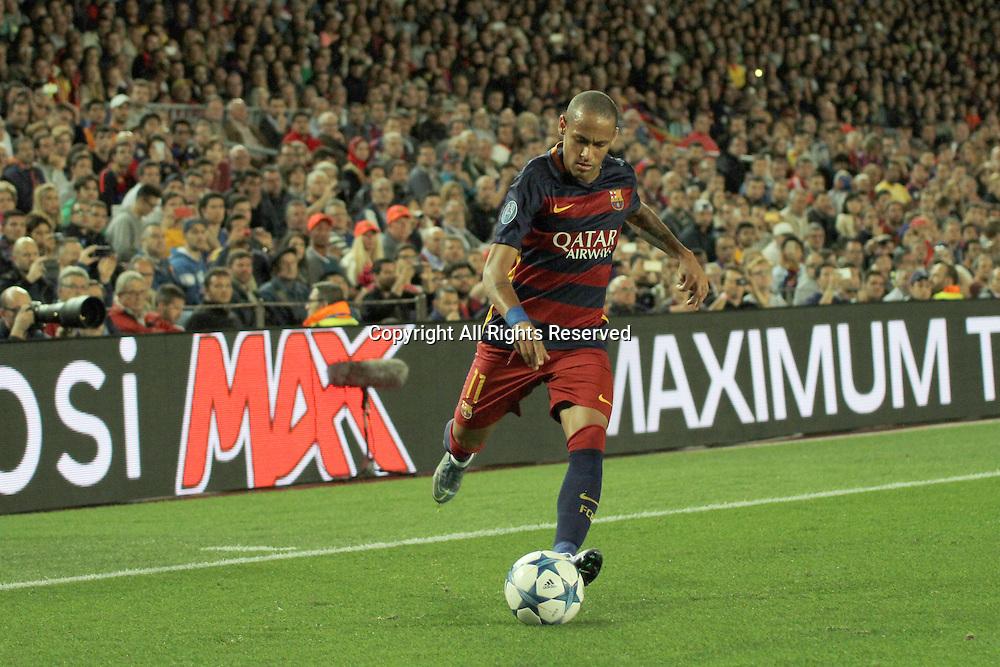 29.09.2015. Barcelona, Spain. Champions League. Barcelona versus Bayer Leverkusen. Neymar in action during the match