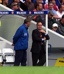 Rangers manager Dick Advocaat during a Rangers v Dunfermline game in August 2000..