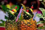 Pinapple drink at a Luau in Hawaii