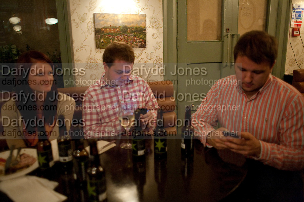EMILY CONWAY; JOHN RUSSELL; DAVID MARSDEN, WranglerÕs Nottinghill Carnival Party at the Bumpkin restaurant.  Westbourne Park Rd. London W1. 28 August 2011. <br /> <br />  , -DO NOT ARCHIVE-© Copyright Photograph by Dafydd Jones. 248 Clapham Rd. London SW9 0PZ. Tel 0207 820 0771. www.dafjones.com.<br /> EMILY CONWAY; JOHN RUSSELL; DAVID MARSDEN, Wrangler's Nottinghill Carnival Party at the Bumpkin restaurant.  Westbourne Park Rd. London W1. 28 August 2011. <br /> <br />  , -DO NOT ARCHIVE-© Copyright Photograph by Dafydd Jones. 248 Clapham Rd. London SW9 0PZ. Tel 0207 820 0771. www.dafjones.com.
