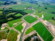 Nederland, Overijssel, Gemeente Dalfsen ; 21–06-2020; Marswetering, Waterschap Drents Overijsselse Delta, ten zuidwesten van Dalfsen; de waterloop wordt verbeterd, meer water kan worden opgevangen (bij regen), of water kan beter worden vastgehouden bij droogte.<br /> Mars wetering, the watercourse is being improved: more water can be taking in when it rains, water can be better retained in case of drought.<br /> <br /> aerial photo (additional fee required)<br /> copyright © 2020 foto/photo Siebe Swart
