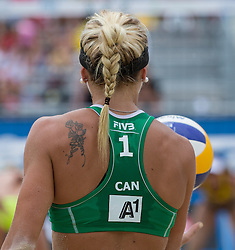 29.07.2014, Klagenfurt, Strandbad, AUT, A1 Beachvolleyball Grand Slam 2014, im Bild  Kacie MacTAVISH 1 CAN // during the A1 Beachvolleyball Grand Slam at the Strandbad Klagenfurt, Austria on 2014/07/29. EXPA Pictures © 2014, EXPA Pictures © 2014, PhotoCredit: EXPA/ Mag. Gert Steinthaler// during the A1 Beachvolleyball Grand Slam at the Strandbad Klagenfurt, Austria on 2014/07/29. EXPA Pictures © 2014, EXPA Pictures © 2014, PhotoCredit: EXPA/ Mag. Gert Steinthaler