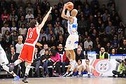 DESCRIZIONE : Campionato 2014/15 Dinamo Banco di Sardegna Sassari - Grissin Bon Reggio Emilia<br /> GIOCATORE : David Logan<br /> CATEGORIA : Tiro Tre Punti Three Point Controcampo<br /> SQUADRA : Dinamo Banco di Sardegna Sassari<br /> EVENTO : LegaBasket Serie A Beko 2014/2015<br /> GARA : Dinamo Banco di Sardegna Sassari - Grissin Bon Reggio Emilia<br /> DATA : 22/12/2014<br /> SPORT : Pallacanestro <br /> AUTORE : Agenzia Ciamillo-Castoria / Claudio Atzori<br /> Galleria : LegaBasket Serie A Beko 2014/2015<br /> Fotonotizia : Campionato 2014/15 Dinamo Banco di Sardegna Sassari - Grissin Bon Reggio Emilia<br /> Predefinita :