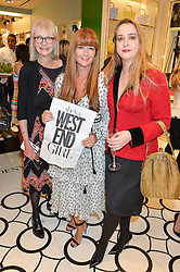Left to right, JAN DE VILLENEUVE, DEBORAH LLOYD and DAISY DE VILLENEUVE at the opening party of the new Kate Spade New York store at 182 Regent Street, London on 21st April 2016.