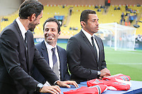Robert PIRES / Ludovic GIULY / Sonny ANDERSON  - 22.04.2015 - Monaco / Juventus Turin - 1/4Finale retour Champions League<br />