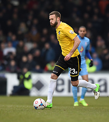 Bristol Rovers' Andy Monkhouse in action during the Vanarama Conference match between Bristol Rovers and Lincoln City at The Memorial Stadium on 7 February 2015 in Bristol, England - Photo mandatory by-line: Paul Knight/JMP - Mobile: 07966 386802 - 07/02/2015 - SPORT - Football - Bristol - The Memorial Stadium - Bristol Rovers v Lincoln City - Vanarama Conference