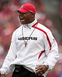 October 11, 2009; San Francisco, CA, USA;  San Francisco 49ers head coach Mike Singletary in the second quarter against the Atlanta Falcons at Candlestick Park. Atlanta won 45-10.