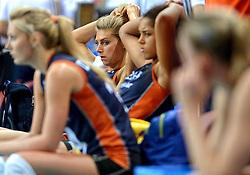 01-10-2014 ITA: World Championship Volleyball Servie - Nederland, Verona<br /> Een teleurgestelde Celeste Plak en Manon Flier na de 3-0 nederlaag tegen Servie.