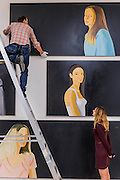 Black Paintings by Alex Katz – an exhibition of new large-scale paintings at the Timothy Taylor Gallery, Mayfair. Katz's paintings are at once figurative and abstract – his larger-than-life portraits and landscapes often looming large over their observers. However, in these new works, rather than filling each frame, the subjects are assigned to the margins with black space occupying most of each canvas. Katz has been the subject of over 200 solo exhibitions and nearly 500 group shows internationally since 1951, and has been honoured with numerous retrospectives including The Whitney Museum of American Art, New York, USA; Tate St. Ives, UK; Turner Contemporary, Margate, UK; and The Guggenheim, Bilbao, Spain.