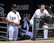 CHICAGO - MAY 25:  Todd Frazier #21 of the Chicago White Sox looks on against the Cleveland Indians on May 25, 2016 at U.S. Cellular Field in Chicago, Illinois.  The Indians defeated the White Sox 4-3.  (Photo by Ron Vesely)    Subject:  Todd Frazier