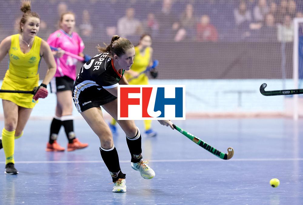 BERLIN - Indoor Hockey World Cup<br /> Women: Germany  - Australia<br /> foto: Cecile Pieper.<br /> WORLDSPORTPICS COPYRIGHT FRANK UIJLENBROEK