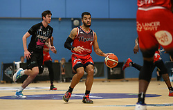 Lewis Champion of Bristol Flyers dribbles the ball - Photo mandatory by-line: Arron Gent/JMP - 07/12/2019 - BASKETBALL - Surrey Sports Park - Guildford, England - Surrey Scorchers v Bristol Flyers - British Basketball League Championship