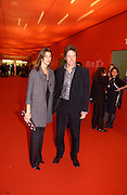 Rosario Saxe Coburg and Hugh Grant, Private view of the Frieze Art Fair, Regent's Park, 16 October 2003. © Copyright Photograph by Dafydd Jones 66 Stockwell Park Rd. London SW9 0DA Tel 020 7733 0108 www.dafjones.com