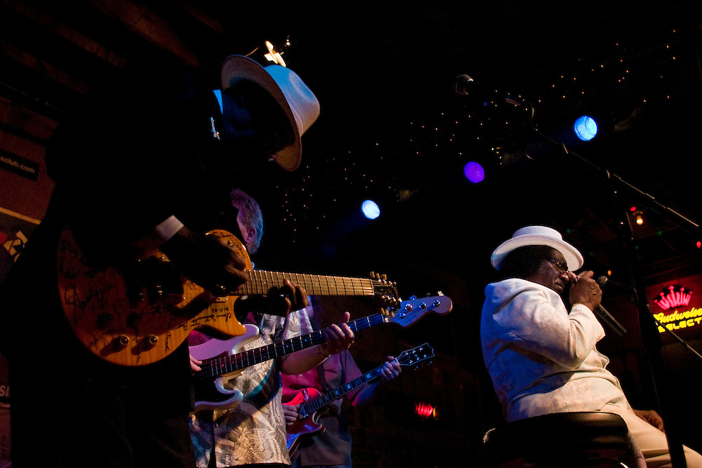 Hubert Sumlin and Big George Brock rock the Ground Zero Blues Club in Clarksdale, Miss., 2007.