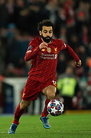 Football - 2019 / 2020 UEFA Champions League - Round of Sixteen, Second Leg: Liverpool (0) vs. Atletico Madrid (1)<br /> <br /> Liverpool's Mohamed Salah in action during todays match  , at Anfield.<br /> <br /> <br /> COLORSPORT/TERRY DONNELLY