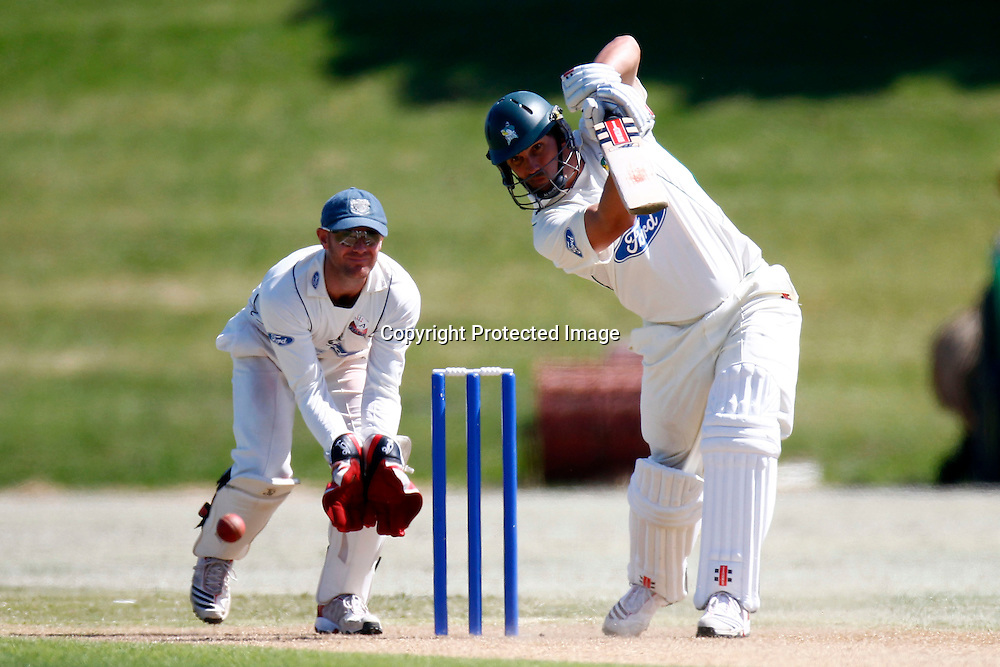Mathew Sinclair during day 4 of the plunket shield cricket match between the Auckland Aces and the Central Stags. Domestic 4 day cricket. Colin Maiden Park, Auckland. 2 December 2011. Ella Brockelsby / photosport.co.nz