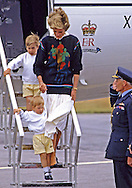 "PRINCE HARRY_21 years on.Diana, Princess of Wales clutches baby Prince Harry by the hand when they arrive at Aberdeen Airport on their way to Balmoral for their summer holidays on August 18th 1986. Prince William follows behind..Prince Harry celebrates his 21st birthday on the 15th of September 2005..Mandatory credit photo: ©FRANCIS DIAS/NEWSPIX INTERNATIONAL..(Failure to credit will incur a surcharge of 100% of reproduction fees).Immediate notification of usage required...**ALL FEES PAYABLE TO: ""NEWSPIX INTERNATIONAL""**..Newspix International, 31 Chinnery Hill, Bishop's Stortford, ENGLAND CM23 3PS.Tel:+441279 324672.Fax: +441279656877.Mobile:  07775681153.e-mail: info@newspixinternational.co.uk"