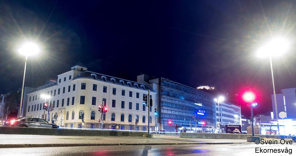 Aalesund by night.<br /> Foto: Svein Ove Ekornesvåg