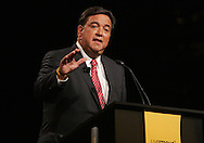 27 August 2007: Democratic presidential hopeful and New Mexico Governor Bill Richardson speaks at the LIVESTRONG Presidential Cancer Forum in Cedar Rapids, Iowa on August 27, 2007.
