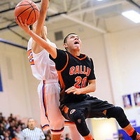 030114  Adron Gardner/Independent<br /> <br /> Gallup Bengal Ronald Lee (20) releases a layup as the Bengals faced off with the Los Lunas Tigers  in the district 6-4A championship at Los Lunas High School in Los Lunas Saturday.