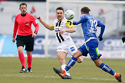 03.03.2018, TGW Arena, Pasching, AUT, 1. FBL, LASK Linz vs SK Puntigamer Sturm Graz, 25. Runde, im Bild v.l. Schiedsrichter Gerhard Grobelnik, James Holland (LASK Linz), Lukas Spendlhofer (SK Puntigamer Sturm Graz) // during the Austrian Football Bundesliga 25th Round match between LASK Linz und SK Puntigamer Sturm Graz at the TGW Arena in Pasching, Austria on 2018/03/03. EXPA Pictures © 2018, PhotoCredit: EXPA/ Roland Hackl