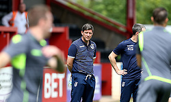 Bristol Rovers Manager Darrell Clarke watches his side warm up ahead of the preseason friendly with Exeter City - Mandatory by-line: Robbie Stephenson/JMP - 16/07/2016 - FOOTBALL - St James Park - Exeter, England - Exeter City v Bristol Rovers - Pre-season friendly